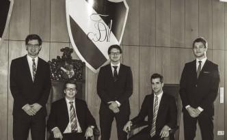 Vorstand SS15: v.r.n.l. Lorenz Klug, Marcel Klingebiel, Jens Döries, Nico Bosin und Jan Jupitz